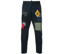 Cropped-Hose mit Patches