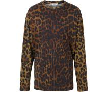 Jersey-Oberteil mit Leoparden-Print