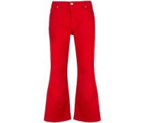 Cropped-Jeans mit Schlitz