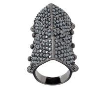 'Regent' Ring mit Kristallbesatz