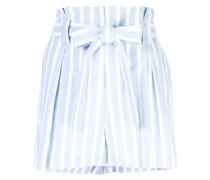 striped print shorts