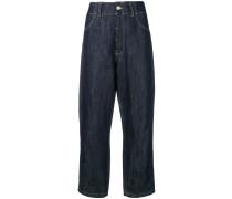 Ausgefranste Oversized-Jeans