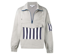 Sweatshirt mit gestreiften Details