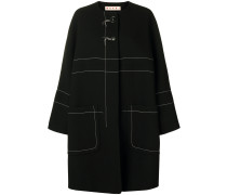 Mantel mit Kontrastnaht