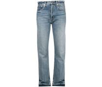 Schmale Cropped-Jeans mit geradem Bein