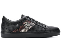snake panel perforated low-top sneakers