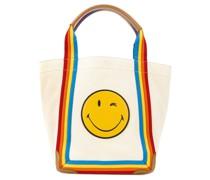 'Smiley' Shopper mit Regenbogenstreifen