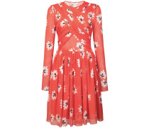 Florales Kleid mit Faltendetails
