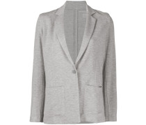 single breasted long sleeve blazer