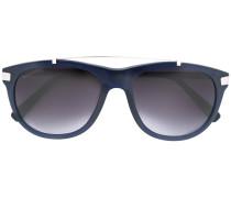 Pilotenbrille mit silberfarbenen Beschlägen