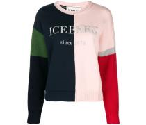 colour blocked logo jumper