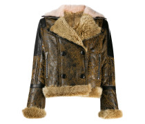 Jacke in Distressed-Optik