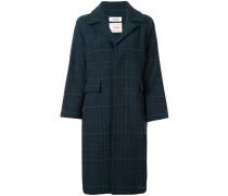 Tweed-Mantel mit Schottenkaromuster