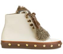Stiefel aus Leder und Kaninchenpelz