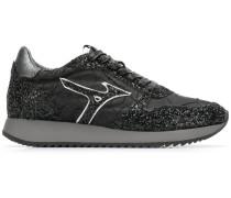 Sneakers mit Glitzer-Finish