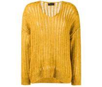 Pullover mit abgerundetem Saum