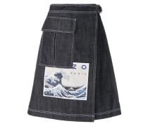 'Hokusai Wave' Jeansrock