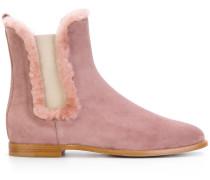 Chelsea-Boots mit Pelz