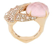 18kt rose gold, opal and diamond Crab Pincer Crystal Haze ring