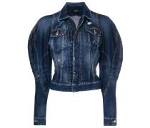 exaggerated-sleeve denim jacket