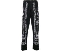 church embroidery track trousers