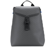 all-over logo print backpack