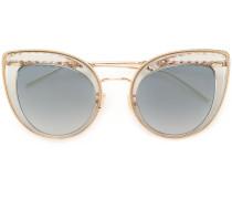 Vergoldetete Cat-Eye-Sonnenbrille