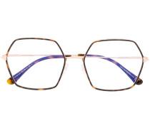 Sonnenbrille mit sechseckigen Gl�sern