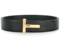 pebbled T-bar belt