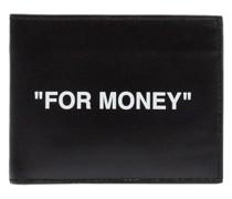 Portemonnaie mit Zitat-Print