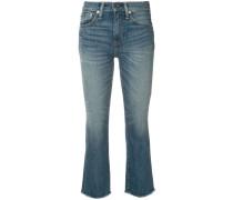 Ungesäumte Cropped-Bootcut-Jeans