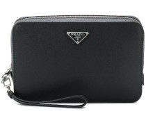 structured logo pouch