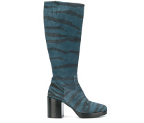 Stiefel mit Zebra-Print