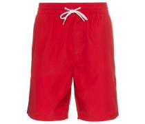 logo print stripe swim shorts