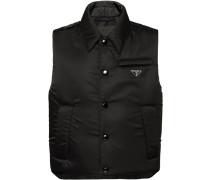 padded nylon gabardine vest