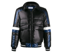 graphic print padded jacket