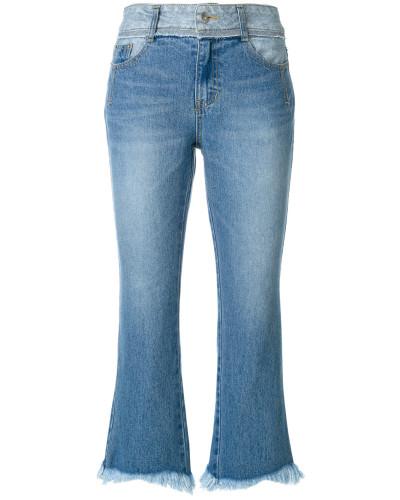 Ausgestellte Cropped-Jeans