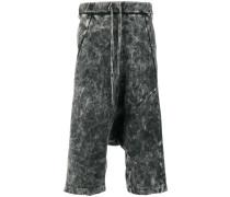 washed effect drop-crotch shorts