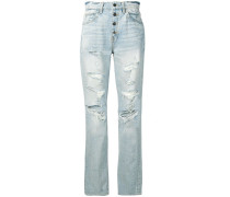 Gerade Distressed-Jeans