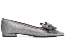 glitter pointed loafers