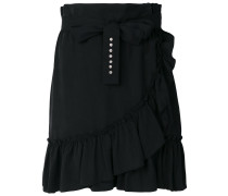frill wrap short skirt