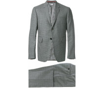 Classic Suit With Tie In Gingham Prince Of Wales Cool Wool