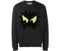 "Sweatshirt mit ""Angry Eyes""-Print"