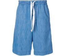 Jeansshorts mit Webstreifen