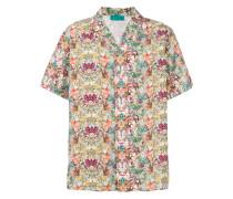 Bowlinghemd mit tropischem Print