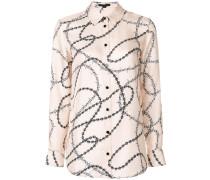 Seidenhemd mit Stacheldraht-Print
