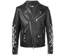 Bikerjacke mit Patches