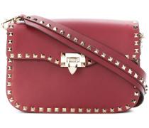 Rockstud flip-lock shoulder bag