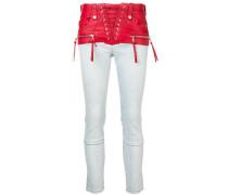 Jeans im Korsett-Look