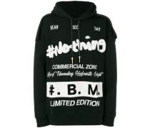 designer print hoodie